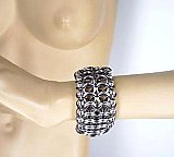 Ball-N-Chain W/Black Accent Chainmail Bracelet