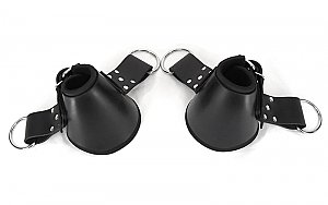 Padded Leather Ankle Suspension Cuffs