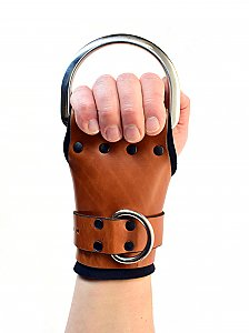 The Multi-Cuff Brown Leather Wrist Suspension Cuffs