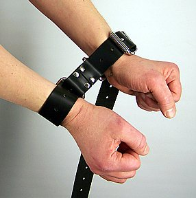 Leather Bondage Hobble Belt
